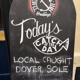 Catch of the Day at The Anchor Inn Hastings